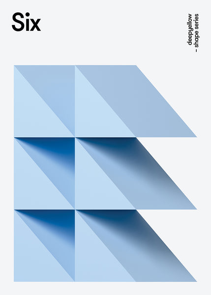 3d triangle poster design