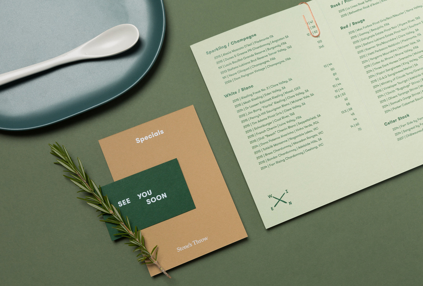 Stones throw menu design