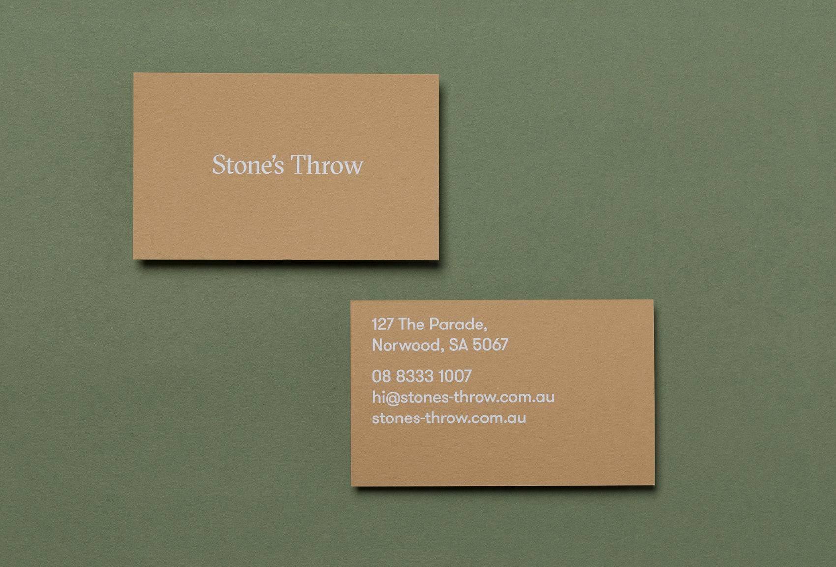 Stones throw business card design