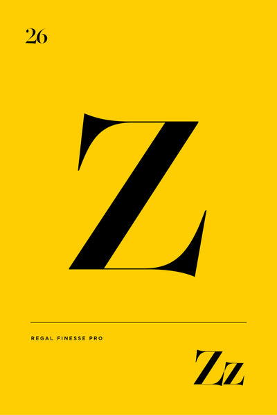 Z typography design