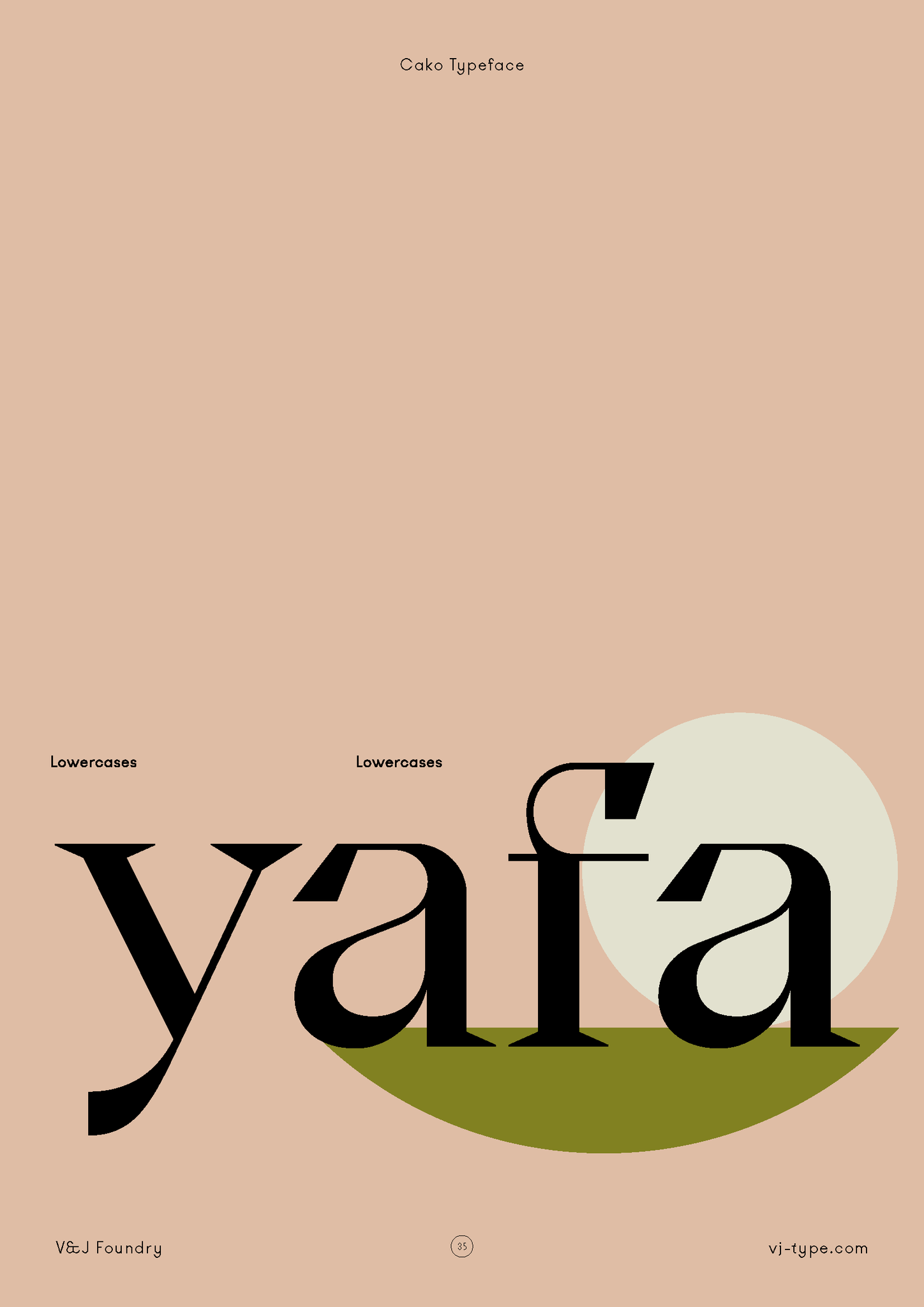 Poster Layout | Font by VJ Type