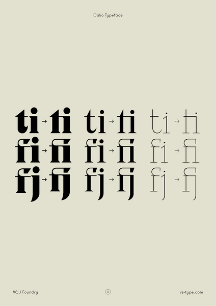 ligatures | By VJ Type