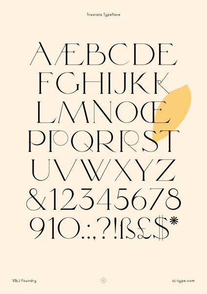 Font and typeface design By VJ Type