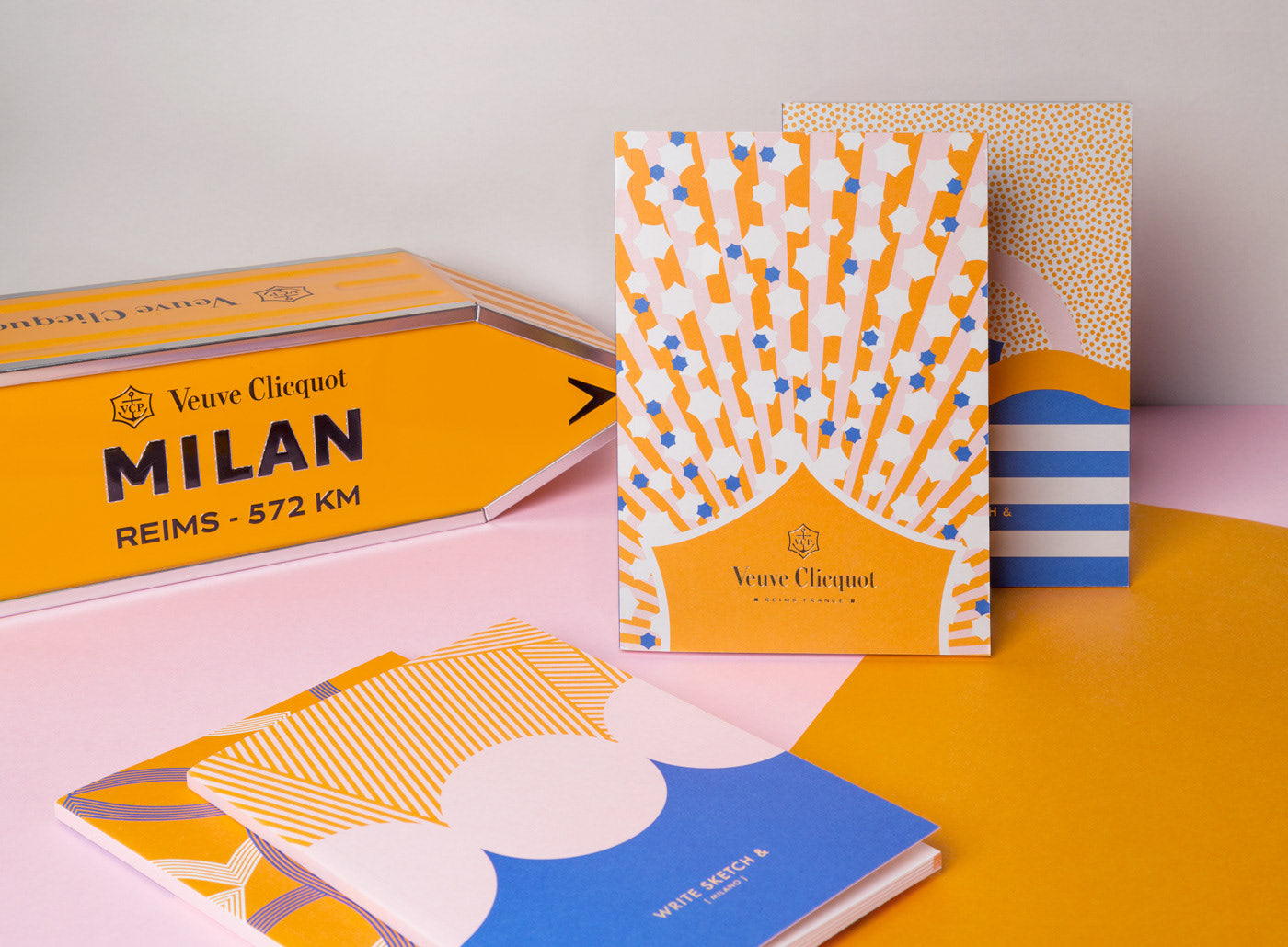 veuve clicquot brand notebook design