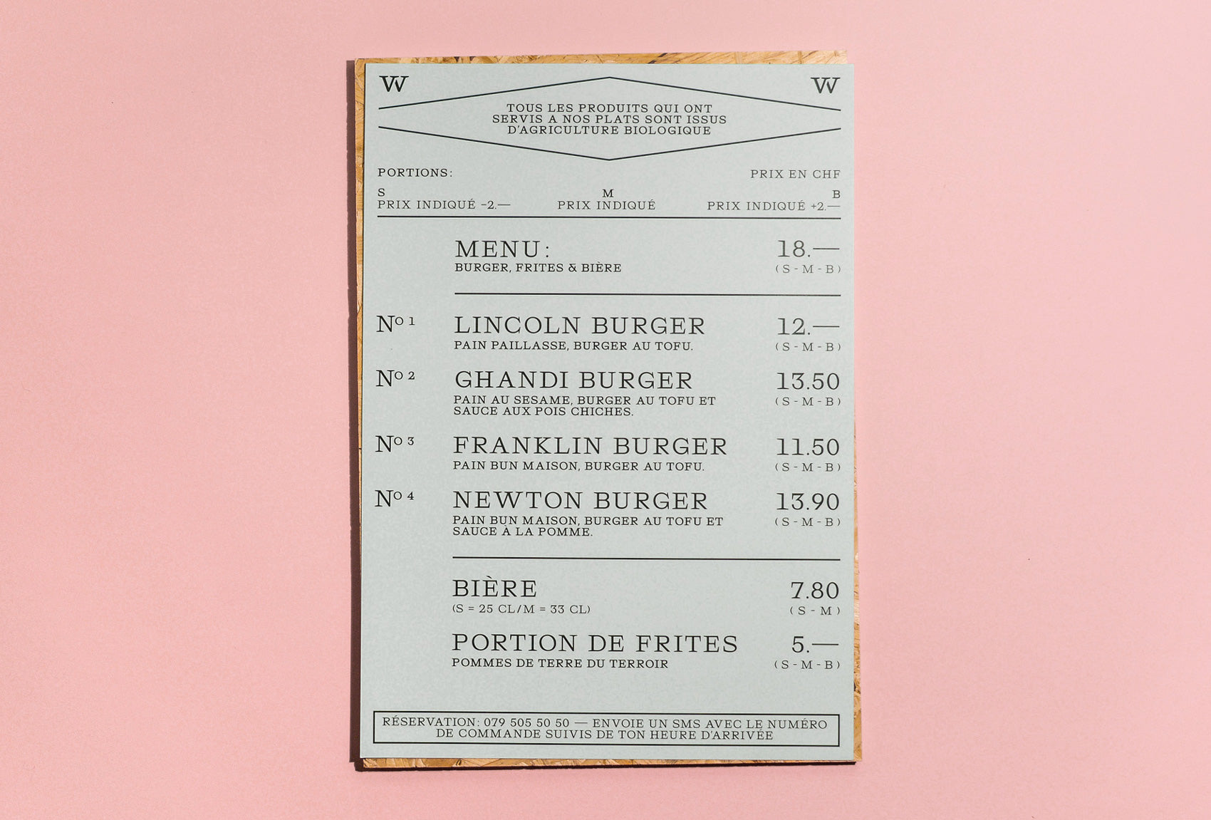 Brand Identity and menu and typography
