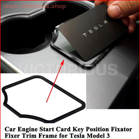 1 Pc Auto Motor Start Card Key Positie Trim Frame Houder Fixer Beperken Stopper Sticker Decoratie