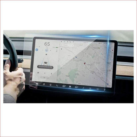 15 Inch Car Screen Protector Clear Tempered Glass For Tesla Model 3 Navigation Protection Car