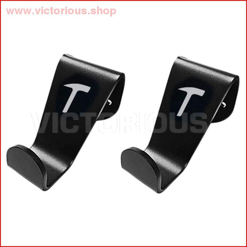 2 X Car Seat Headrest Hook Hanger Holder Fit For Tesla Model 3/x Car