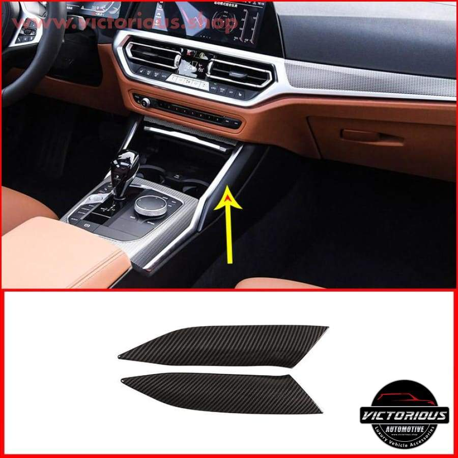 Car Decoration Moulding Gear Shift Cover Accessories For BMW 3-Series Black
