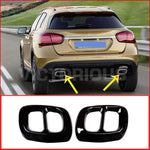 2Pcs Glossy Black Stainless Steel For Mercedes Benz Gla Class X156 Car Exhaust Trim Car