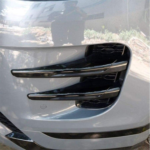 4Pcs Black Car Front Fog Lamp Frame Trim For Land Rover Range Evoque (L551) 2019-2020 Accessories