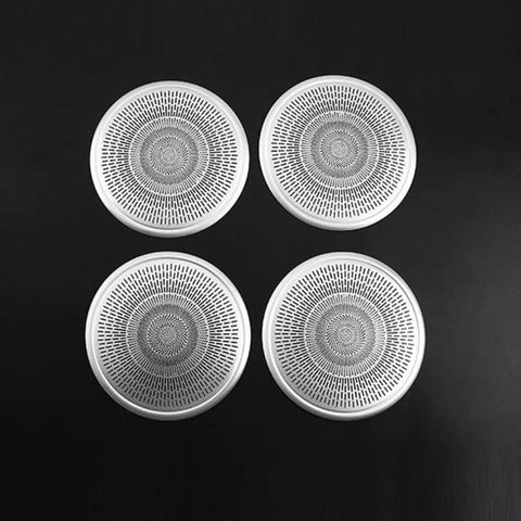 4Pcs Car Aluminum Alloy Door Speaker Cover Panel Trim For Range Rover Evoque 2019 2020 Year
