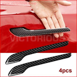 4Pcs Matte Black Protector Stickers Waterproof Anti-Scratch Decals Diy Door Handle Wrap Cover For