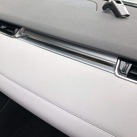 Abs Chrome Center Control Dashboard Panel Decoration Cover Trim Sticker For Range Rover Evoque L551