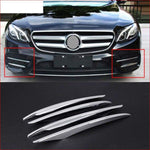 4Pcs Abs Chrome Front Fog Lamp Cover Trim For Mercedes Benz E Class W213 E200 E300 2016 2017 E43 Amg