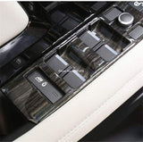 Black Wood Grain Abs Plastic Window Lift Switch Buttons Frame Cover Trim For Range Rover Evoque 2020