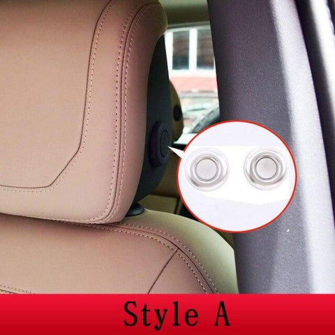 Car Styling Abs Chrome Head Pillow Adjustment Button Cover Trim For Defender 90 Land Rover 110 2020