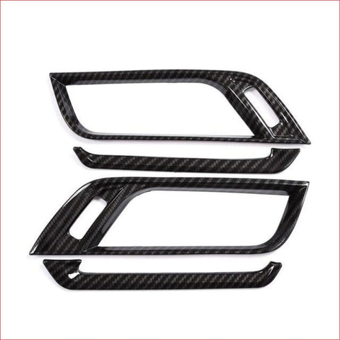 Carbon Fiber Plastic Chrome Side Air-Conditioning Vent Cover Trim For Bmw X1 F48 2016-2018 X2 F47
