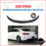 Carbon Fiber Rear Trunk Spoiler Mercedes W205 C63 Amg Coupe 2-Door 2015 - 2017 Car
