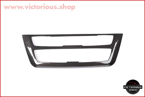 Carbon Fiber Style Abs Plastic Center Decoration Frame Trim For Bmw 3 4 Series Gt F30 F32 F34