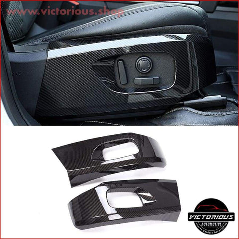 Carbon Fiber Style Abs Plastic Sear Decoration Cover Trim For Land Rover Discovery Sport Auto Parts