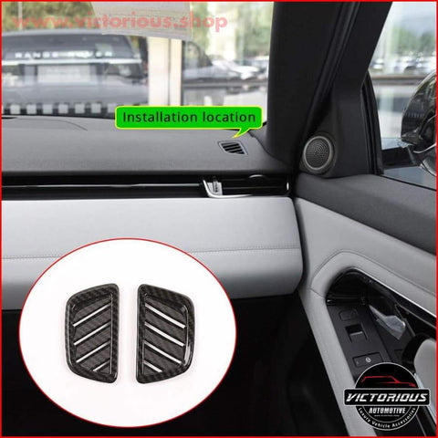 Carbon Fiber Style Air Conditioning Vent Frame Trim For Range Rover Evoque (L551 )2019-2020 Car