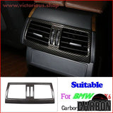 Carbon Fiber Style For Bmw X5 X6 E70 E71 2008-2013 Abs Car Interior Decoration Strip Frame Cover