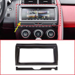 Carbon Fiber Style Interior Navigation Frame Trim For Jaguar E-Pace E Pace 2018-2020 Car