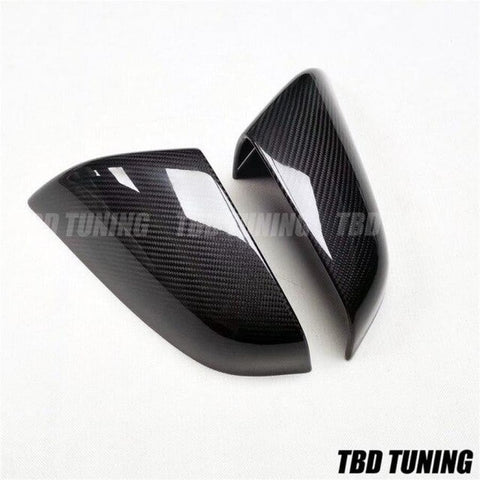 Carbon Fibre Mirrors For Tesla Model X S Gloss Black Car