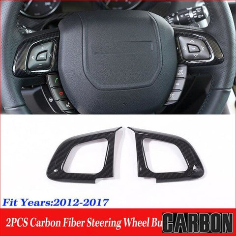 Carbon Fibre Rear Air Steering Wheel Button Frame For Land Rover Range Evoque 2012-2017 Car