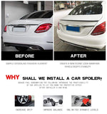 Carbon Fibre Rear Trunk Spoiler C63 (4Door) 2015-2017 Car