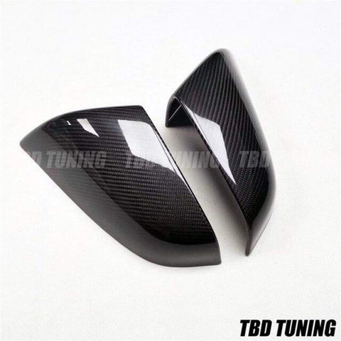 Carbon Mirror Covers For Tesla Model S 60 70 P85 P90D 2014 Gloss Black