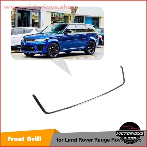 Front Center Grille Carbon Insert For Land Rover Range Sport 2018 2019 Car