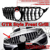 W205 C200 C250 C300 C350 2015-2018 2Dr/4Dr Gt R Gtr Style Car Front Grill Grille With A Camera Hole