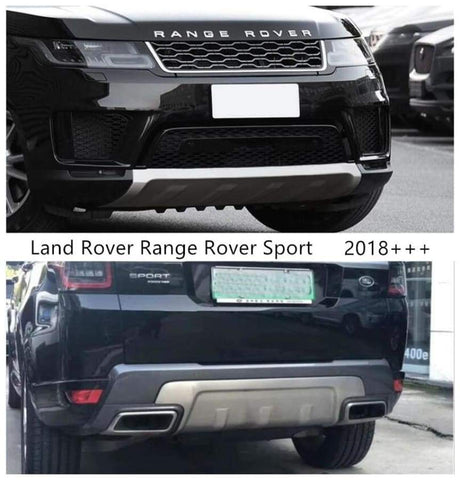 Front & Rear Bumper Guard Plate For Land Rover Range Sport 2018-2021 Car