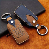 Genuine Leather Key Cover Case Pocket For Land Rover Range Sport Evoque Velar Discovery 5 2018 Car