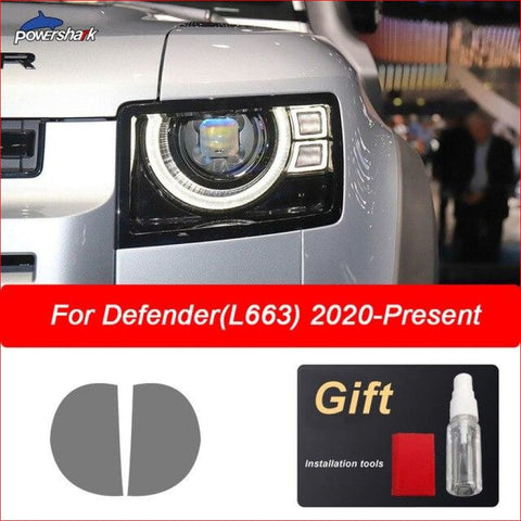 Headlight Tint Smoked Black Protective Film For Defender 2020 Car