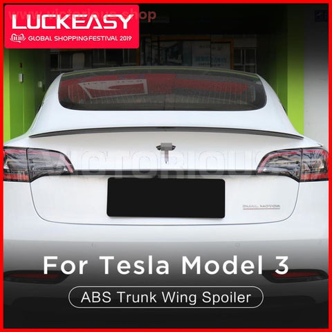 High Performance Version Car Abs Trunk Wing Spoiler For Tesla Model 3 2017-2019 Coupe Performance