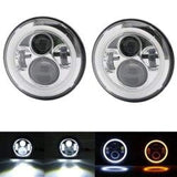 Led Headlights For Land Rover Defender 40W Chrome