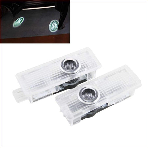 2 Pcs Led Welcome Logo Door Laser Shoot Light Lamp For Land Rover Car