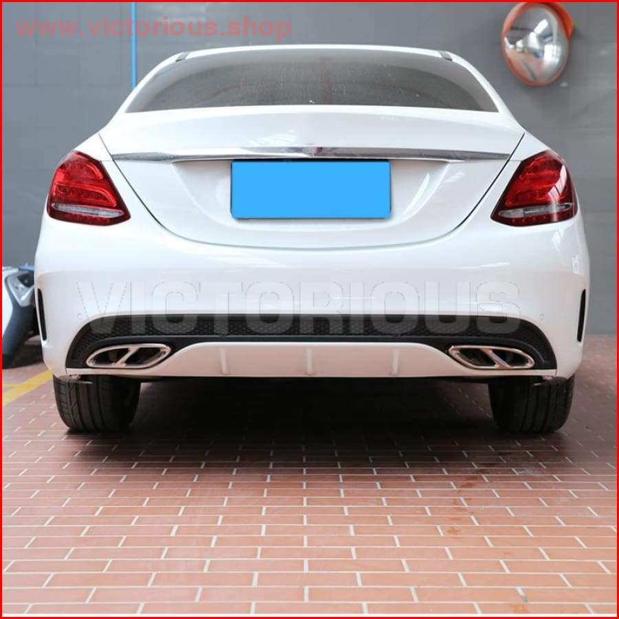 Top Quality For Mercedes Benz GLC A B C EClass W205 Coupe W213 W176 W246 2016-17 Car Accessory AMG Exhaust Cover Trim 304 Steel
