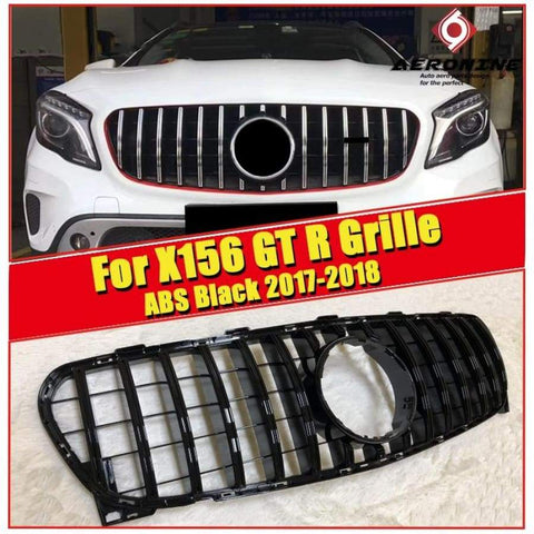 Mercedes X156 Sports Grille Grill Abs Glossy Black Without Sign Gla Class Gla180 200 250 Gla45 Look