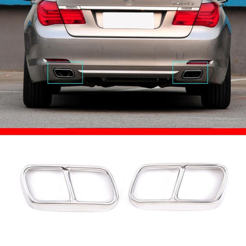 For BMW 7 Series F01 2009-2014 304 Stainless Steel Car Tail Muffler Exhaust Pipe - Victorious Automotive