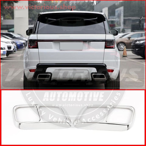Range Rover Sport Exhaust/muffler Quad Tips - 2018/19/20 Car