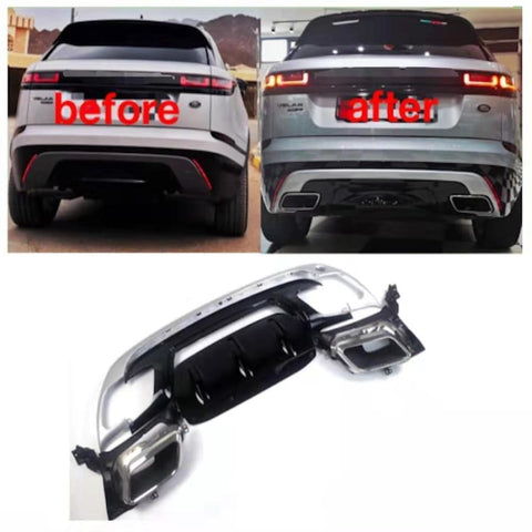 Range Rover Velar Rear Bumper Lower Cover Diffuser Conversion Car