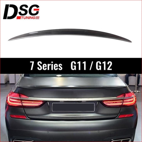 Rear Carbon Fiber Spoiler for BMW G11 G12 7 Series 740i 750i Sedan 2016-2018 Boot Lip Wings - Victorious Automotive