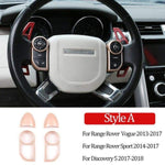 Rose Gold Steering Wheel Button Decorative Frame Vogue Sport Discovery Evoque 2013-2017 Car