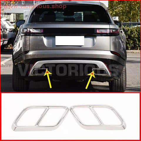 Stainless Steel Exhaust Quad Look- Range Rover Velar 2017 2018 2019 Car