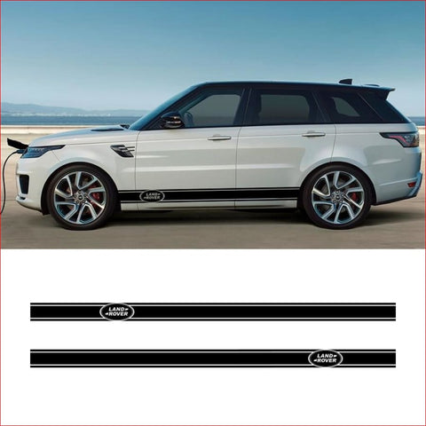 2 Pcs Vinyl Car Side Skirt Stickers Decals Styling For Land Rover Discovery Range Sport Freelander