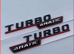 AMG Turbo 4matic Emblem badge
